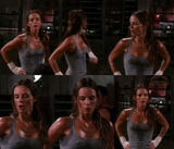 Gabrielle Anwar l Sweaty pokie hotness l Burn Notice (CollageX1)