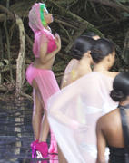 Nicki Minaj on set of her music video in Hawaii 14th March x23