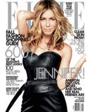 Jennifer Aniston posing topless (covered) showing side-boob in photoshoot for Elle magazine - Hot Celebs Home