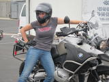**ADDS** Katee Sackhoff - Motorcycle Tight Maneuvering Course Twitter Pics - Oct 3, 2010 (x3 +18)